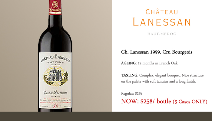 Concord french may special old vintage of ch lanessan for Chateau lanessan